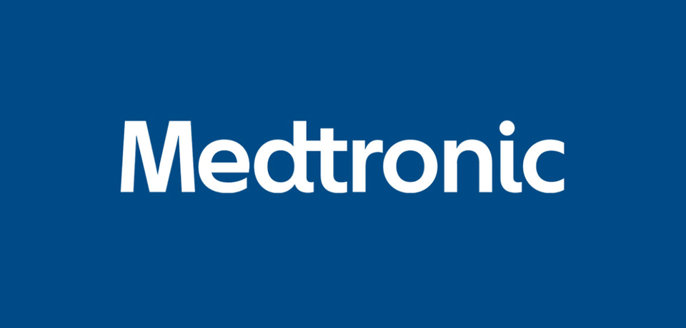 medtronic logo on blue backgroung